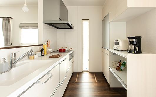 機能的で使いやすいキッチン