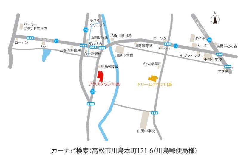 プラスタウン川島地図