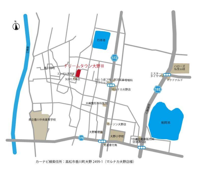 DT大野Ⅲ地図