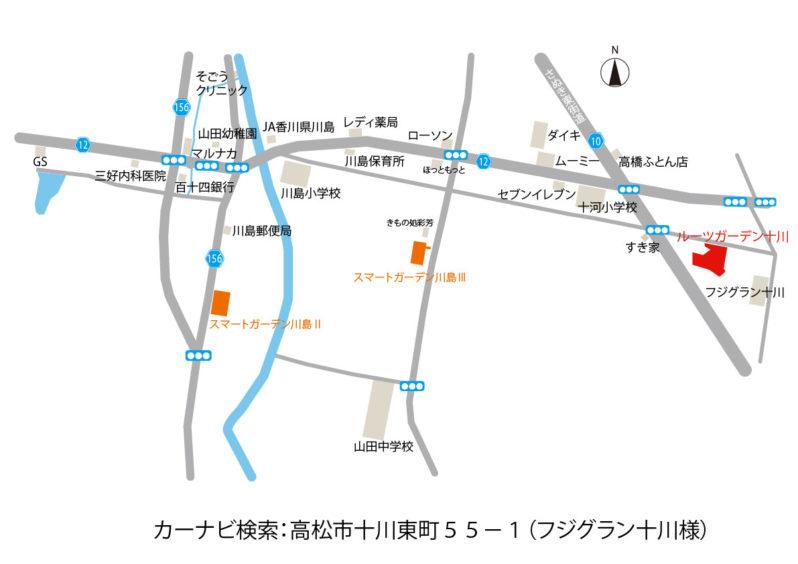 ルーツガーデン十川1地図