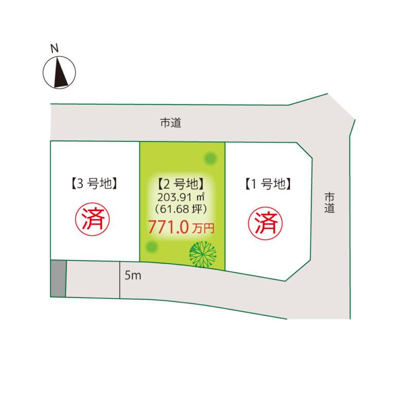 ハピネスガーデン春日Ⅲ区画図
