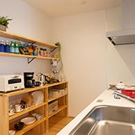 手作りキッチン収納